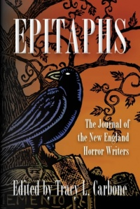 Cover of the New England Horror Writers' first anthology, Epitaphs.