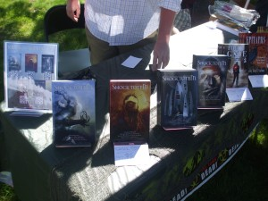Shock Totem magazine displayed at the Foxboro craft fair. Photo by Jason Harris.
