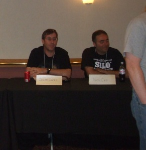 DVD Snapshot writer Jason Harris and CKF writer Nick Cato.