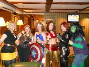 Kendra L. Saunders with cosplay gender bender Avengers.