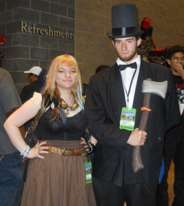 Kendra L. Saunders and Abraham Lincoln: Vampire Hunter.