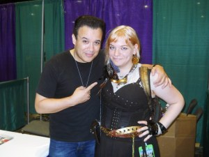 Carlos Ferro and Kendra L. Saunders at ConnectiCon 2012.