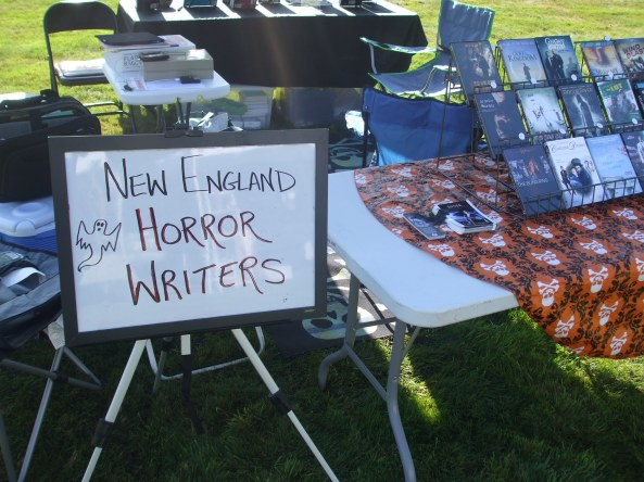 The other NEHW table at the Middletown Open Air Market. Photo by Jason Harris.