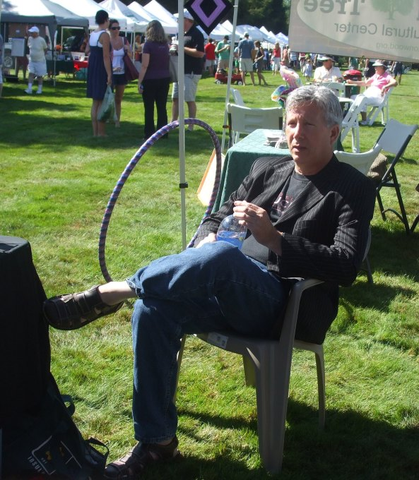 Author Alan Kessler at the NEHW booth. Photo by Jason Harris