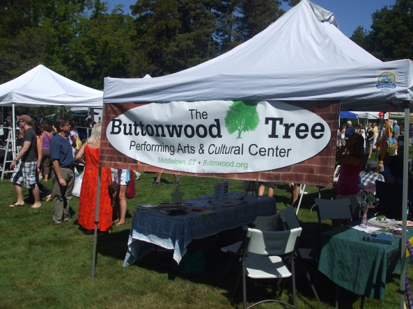 The Buttonwood Tree booth at the Open Air Market and Festival. Photo by Jason Harris.