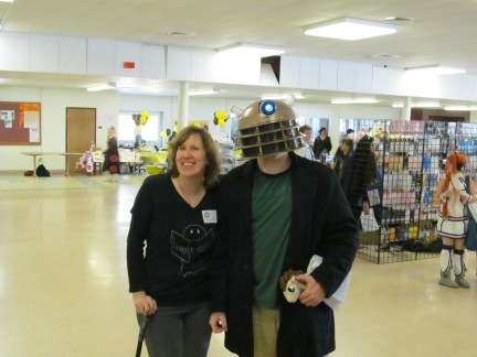 Author Stacey Longo and a convention attendee. Photo by Jason Harris.