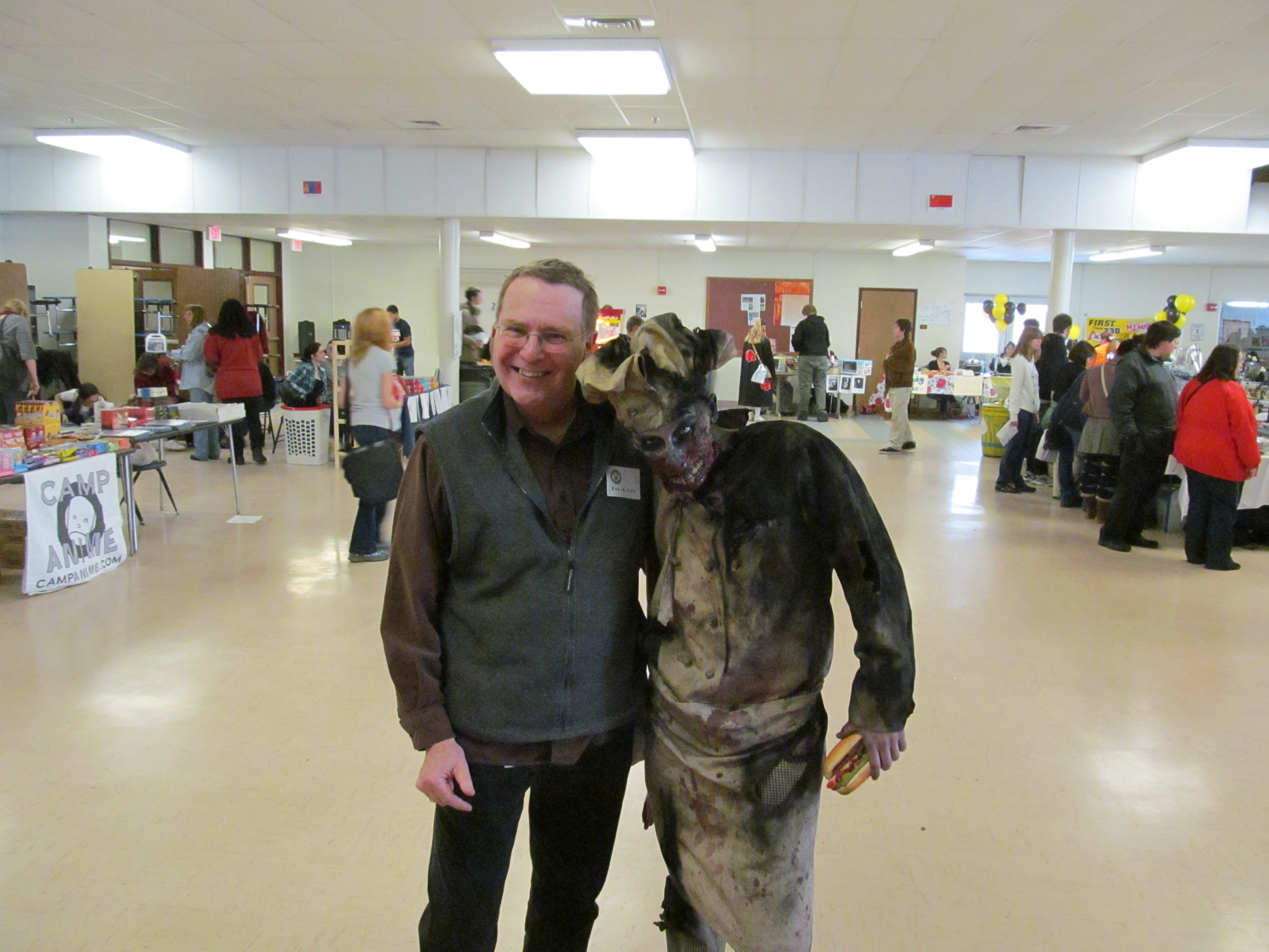 Author Bill Rockwell with a zombie. Photo by Jason Harris.