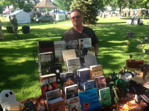 Author Rob Watts was at the Books & Boos tent on Sunday.