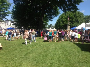 The crowds at the 32nd Tag Sale.