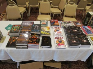 John M. McIlveen's dealer table.