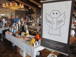 The Books & Boos tables at the New England Author Expo.