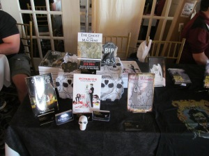 Author Rob Smales' books on the NEHW table.