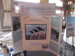 The Penguin Lady's table.