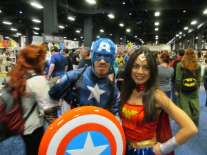 Captain America and Wonder Woman.