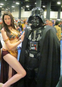 Princess Leia and Darth Vader.