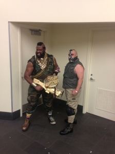 Mr. T and Bane.