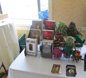 A part of the New England Horror Writers' table.