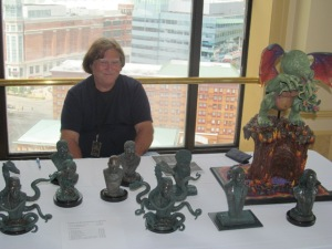 Sculptor Larry Elig