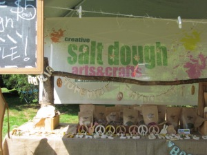 The Creative Salt Dough Arts & Crafts booth.