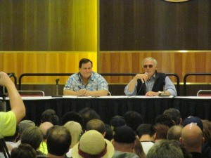 Burt Ward and Adam West at the Batman panel.