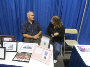 Survivor's Richard Hatch talking with author Stacey Longo.