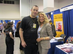 Me with Leslie Easterbrook.