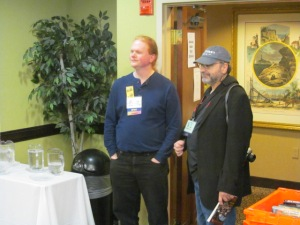 Authors John Goodrich and T.T. Zuma.