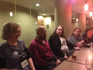 Authors Morven Westfield, Errick Nunnaly, Trisha Wooldridge, and Jennifer
