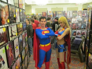 Superman and Supergirl.