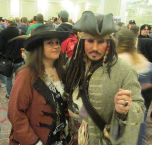 Jack Sparrow and companion.