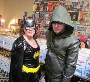 Batgirl and Green Arrow.