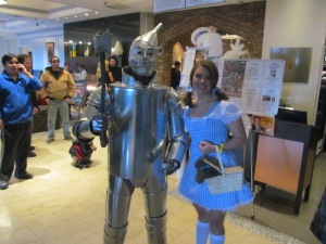 The Tin Man and Dorothy.