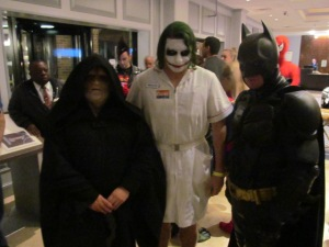 The Emperor, Joker, and Batman.