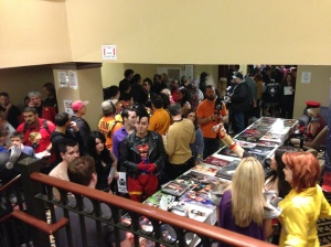 The crowds at Super Megafest.