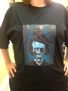 Books and Boos' Zombie Poe t-shirt.