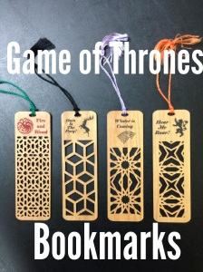 Game of Thrones booksmarks.