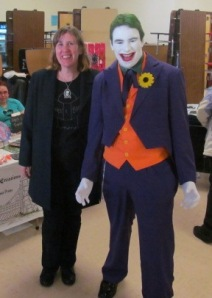 Author Stacey Longo with the Joker.