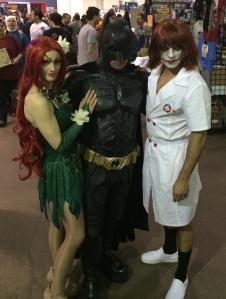Poison Ivy, Batman, and the Joker.