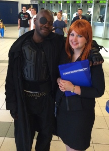 Nick Fury and Pepper Potts.
