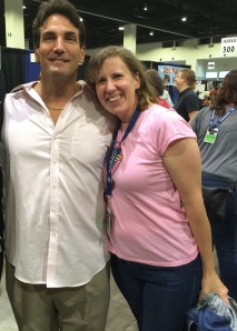 Author Stacey Longo with John Altamura (a.k.a. the Toxic Avenger)