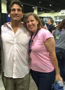 Author Stacey Longo with John Altamura (a.k.a. the Toxic Avenger)