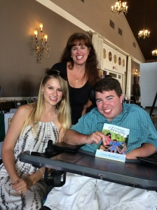 From left to right: Katie, Lisa, and Kyle promoting memoir A Mother's Journey.
