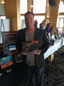 Author Rob Watts with his newest book, Left-Hand Path.