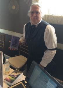 Author Guntis Goncarous with his book, Havana's Secret.