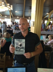 Author Rob Smales with his book, Dead of Winter.