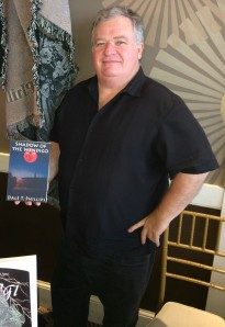 Author Dale T. Phillips with his book, Shadow of the Wendigo.