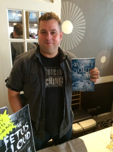 Author Eric Dimbleby with his newest book, White Out.
