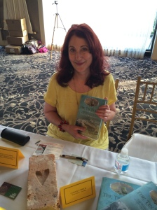 Author Deborah Swiss with her book, The Tin Ticket.