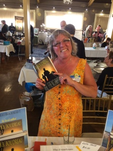 Author B.B. Boudreau with her book, The Frenchman.