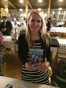 Author Eileen Doyan with her book, Pet Tales.